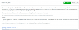 Mike Jenning's final lesson assignment, loaded in Canvas LMS
